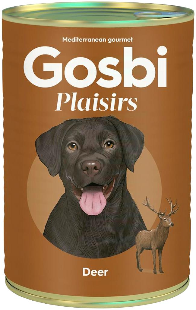 Gosbi Plaisirs Deer беззерновые для взрослых собак с олениной (185 гр)