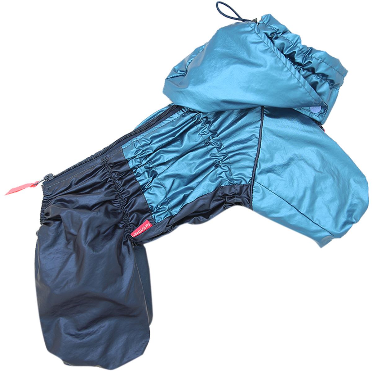 For My Dogs дождевик для собак синий металлик для мальчиков 430ss-2020 M (18)
