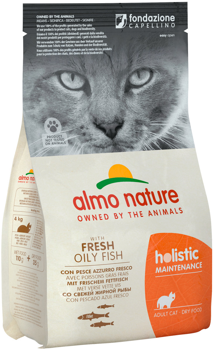 Almo Nature Adult Cat Fish & Rice для взрослых кошек с рыбой и рисом (0,4 кг)