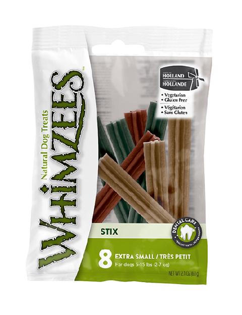 Лакомство Whimzees зубочистки для взрослых собак маленьких пород Стикс Xs 8 шт х 8 см (1 шт)