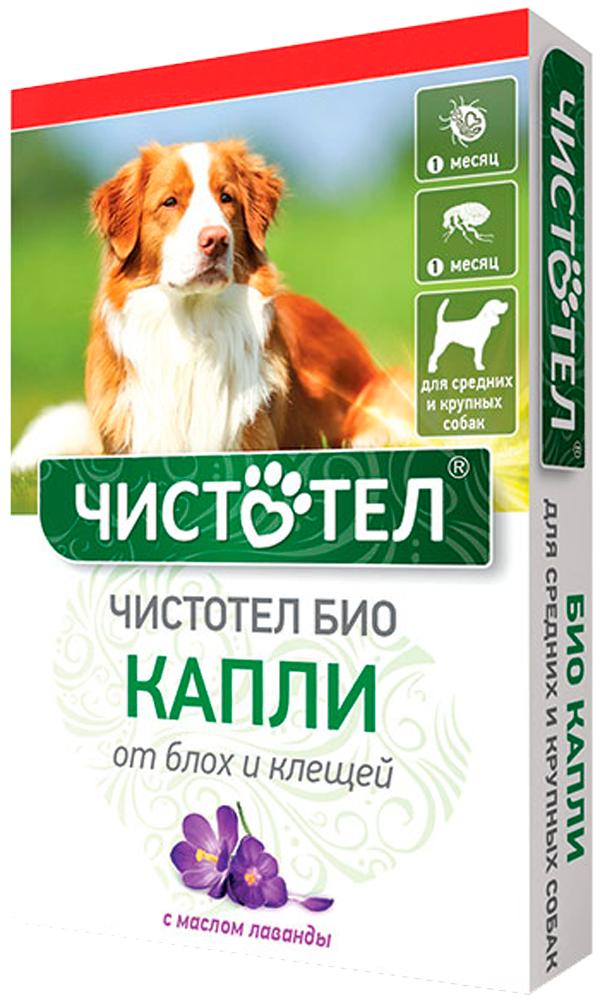 чистотел био капли для собак средних и крупных пород против блох и клещей с лавандой (уп. 2 пипетки) (1 шт)