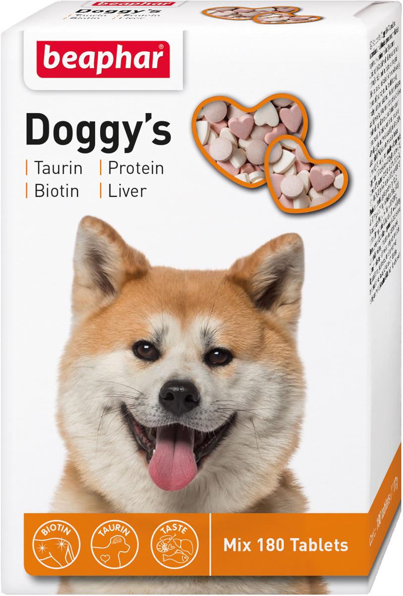 Beaphar Doggy's Mix – Беафар лакомство витаминизированное для собак Микс (180 шт)