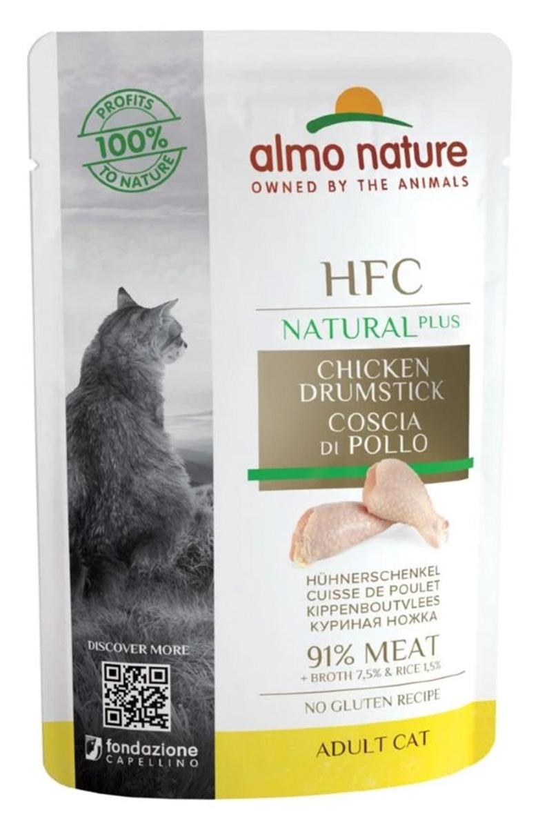 Almo Nature Cat Hfc Natural Plus для взрослых кошек с куриными бедрышками (55 гр х 24 шт)