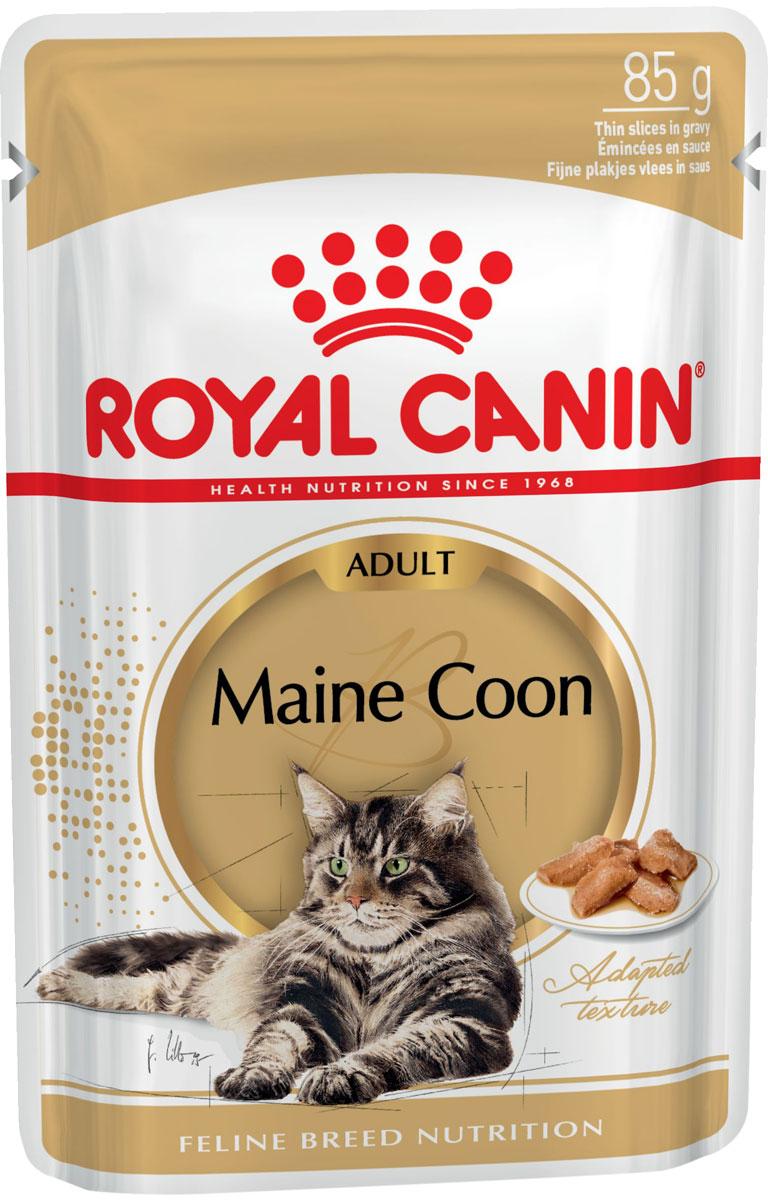 Royal Canin Maine Coon Adult для взрослых кошек мэйн кун в соусе 85 гр (85 гр)