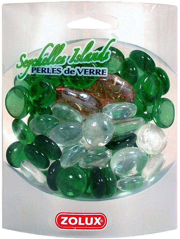 Декор для аквариума Zolux Сейшельские острова стеклянный 430 гр (1 уп)