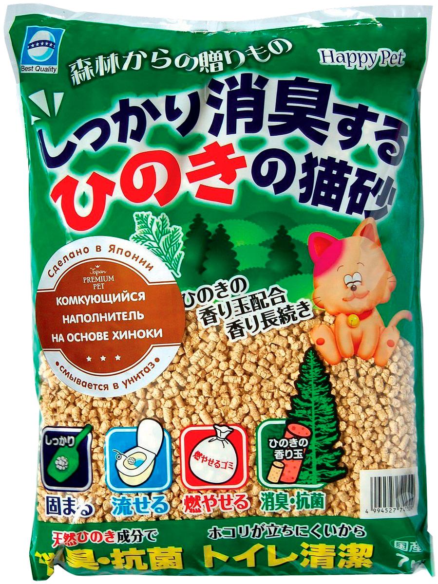 Наполнитель комкующийся Premium Pet Japan древесный с хиноки для туалета кошек (7 л)