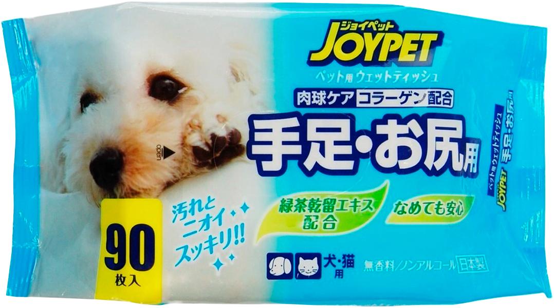 Влажные салфетки для базового ухода для собак и кошек Premium Pet Japan для ухода за лапами и областью под хвостом 90 шт (1 уп) салфетки teddy pets влажные для ухода за глазами и ушами для кошек и собак