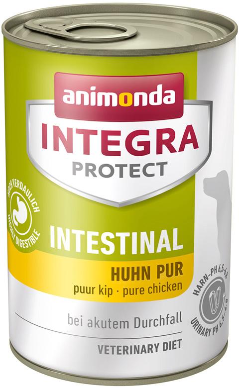 Animonda Integra Protect Dog Intestinal для взрослых собак при заболеваниях желудочно-кишечного тракта с курицей 400 гр (400 гр) royal canin gastro intestinal puppy для щенков при заболеваниях желудочно кишечного тракта 195 гр 195 гр