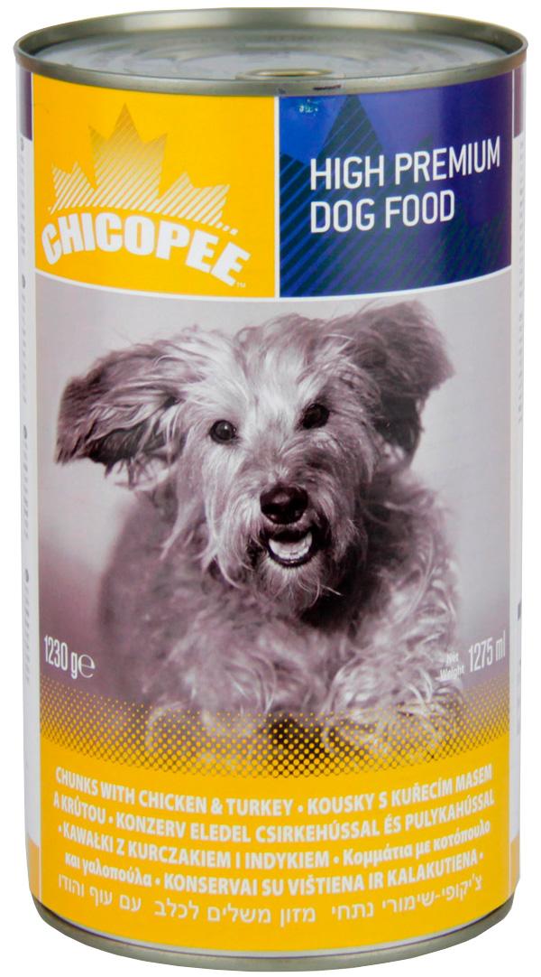 Chicopee Dog для взрослых собак с курицей и индейкой (1230 гр)