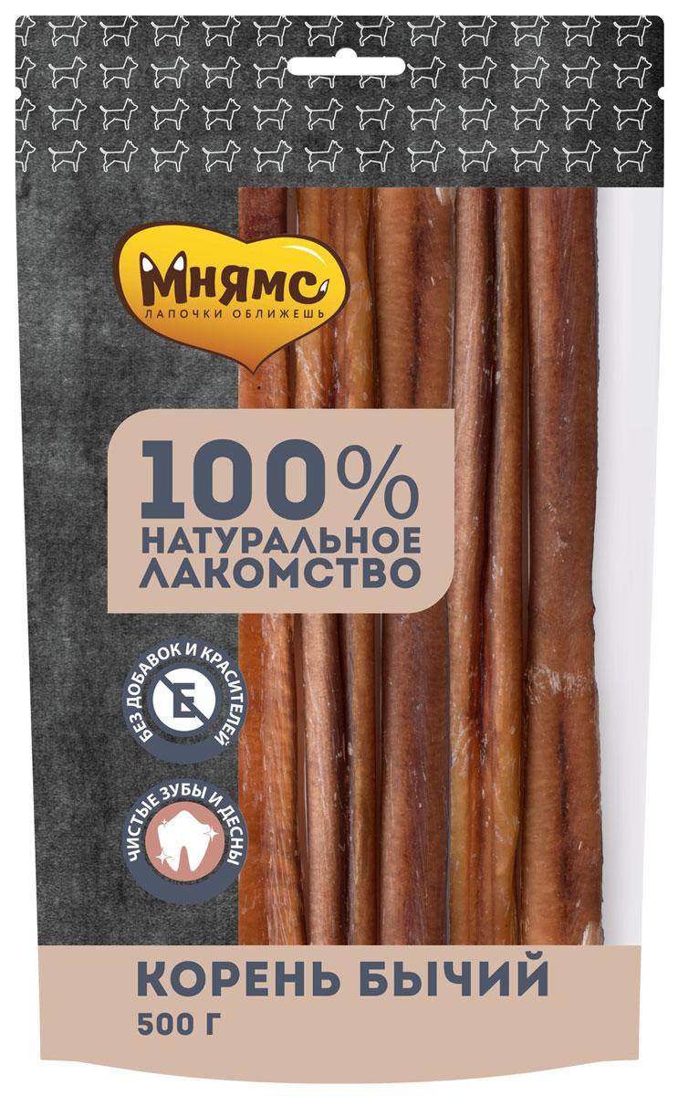 Лакомство мнямс для собак корень бычий сушеный 500 гр (1 шт)
