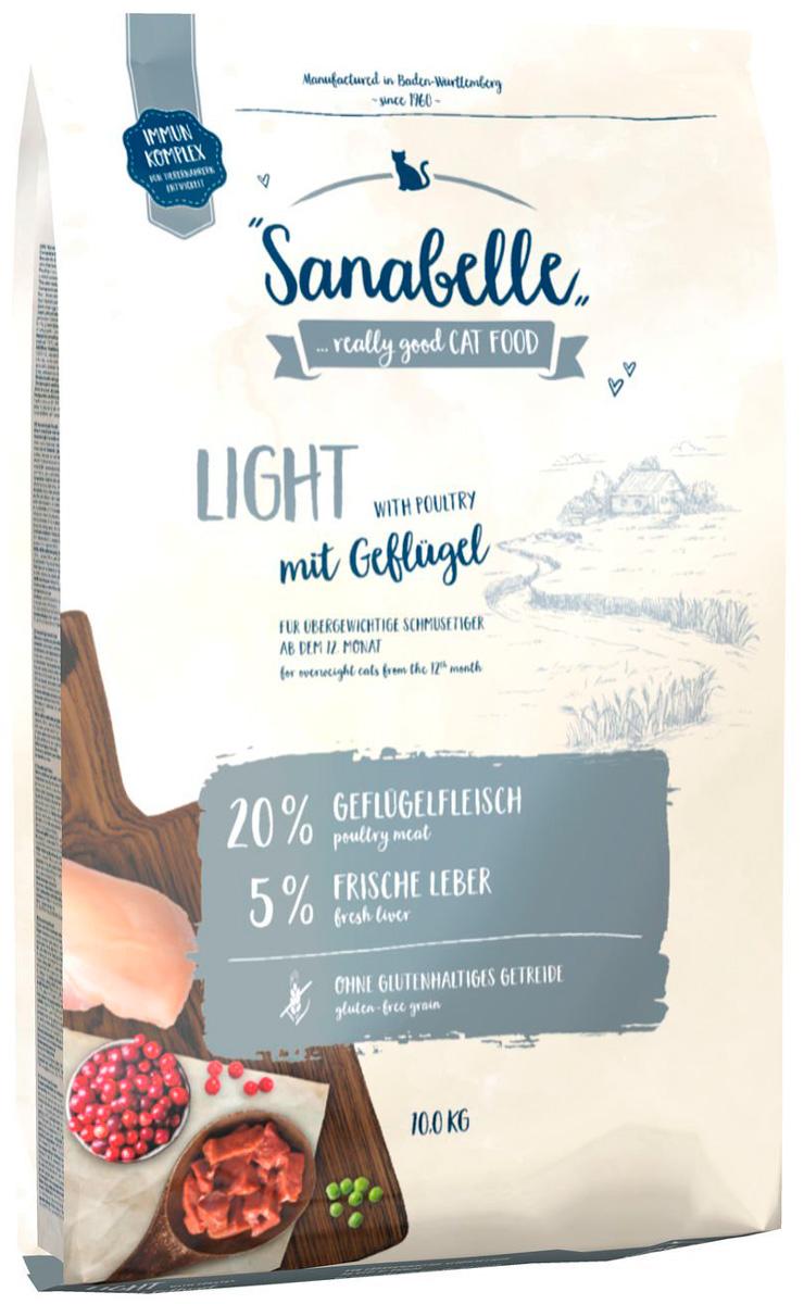 Bosch Sanabelle Light диетический для взрослых кошек с птицей (0,4 кг)