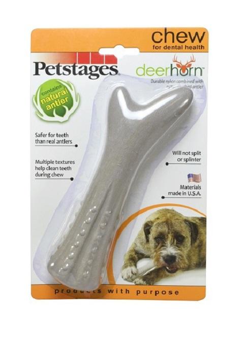 Petstages игрушка для собак Deerhorn с оленьими рогами, средняя (1 шт)