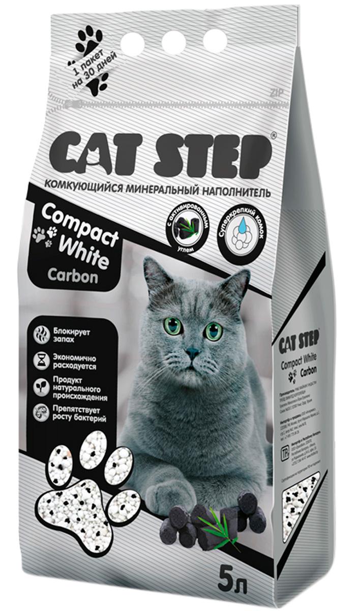 Фото - Cat Step Compact White Carbon наполнитель комкующийся с активированным углем для туалета кошек (5 л) комкующийся наполнитель цап царап антимикробный 5 л