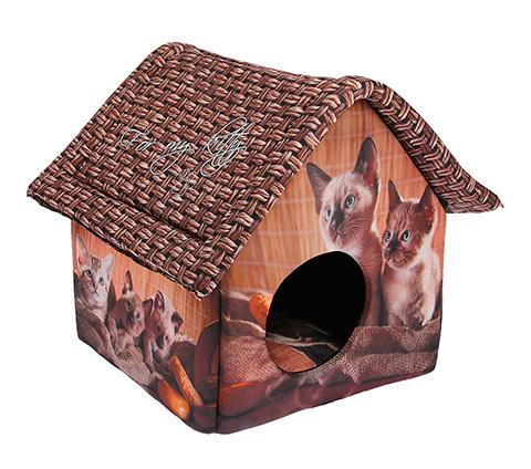 Дом для животных PerseiLine Дизайн Шоколадные котята 33 х 33 х 40 см (1 шт) дом для животных perseiline дизайн бамбук 33 х 33 х 40 см 1 шт