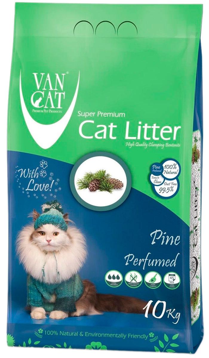 Фото - Van Cat Pine наполнитель комкующийся для туалета кошек с ароматом соснового леса (5 кг) комкующийся наполнитель
