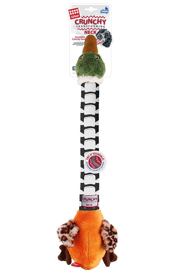 Игрушка для собак GiGwi Crunchy Neck Утка с пищалкой и хрустящей шеей 54 см (1 шт)