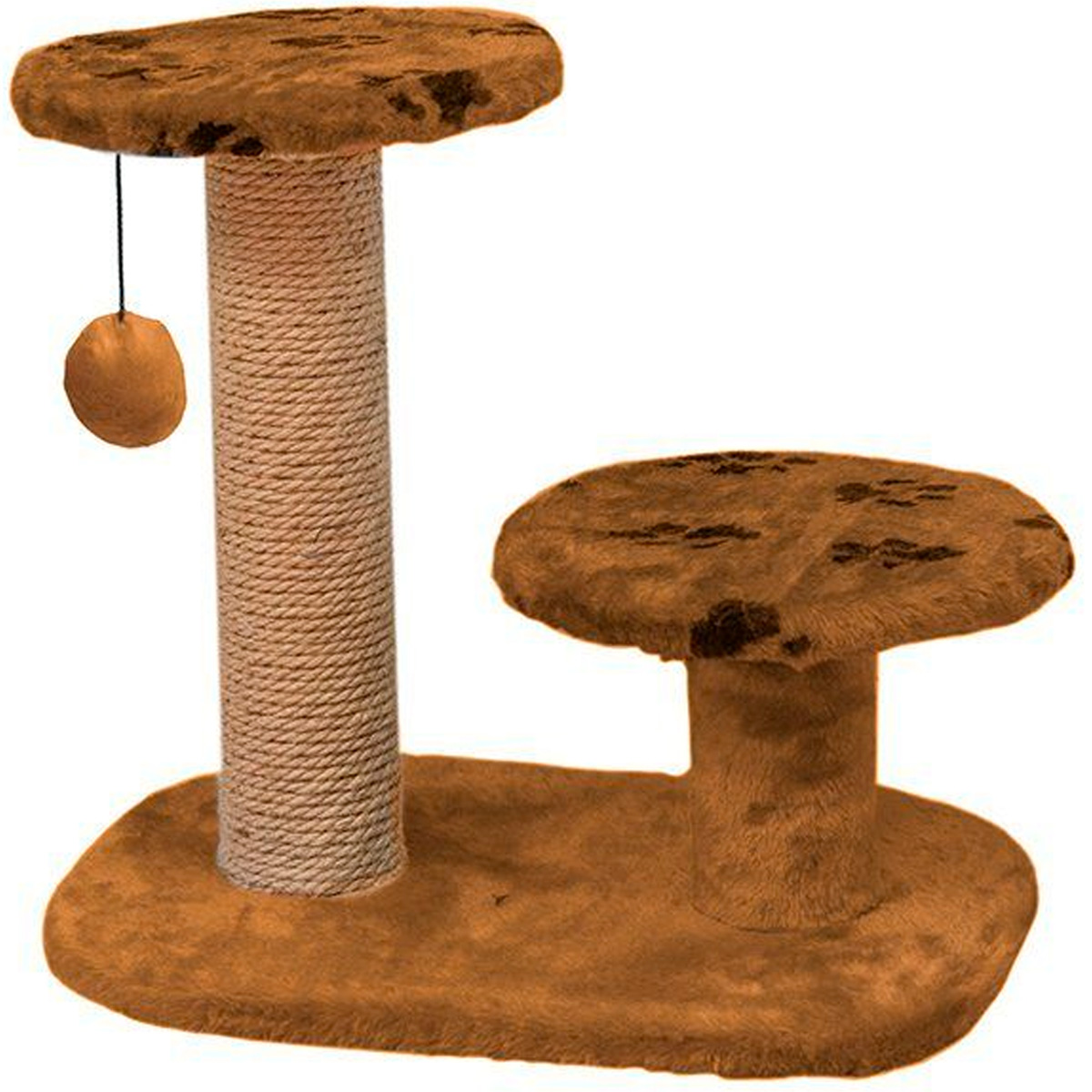 Когтеточка Дарэлл 95 круглая с двумя полками коричневая 56 х 36 х 52 см (1 шт) когтеточка дарэлл джут 95 круглая с 2 полками серая 56 х 36 х 52 см 1 шт