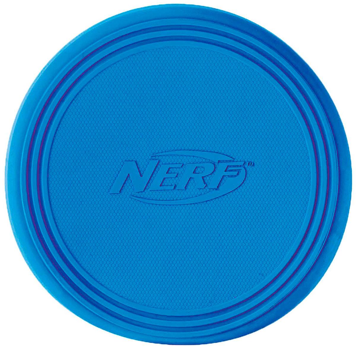Игрушка для собак Летающая тарелка Nerf Диск для фрисби 22,5 см (1 шт) спортивный инвентарь наша игрушка летающая тарелка 20 см 635609