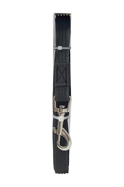 Поводок для собак 20 мм капроновый с латексной нитью черный 5 м Зооник (1 шт)