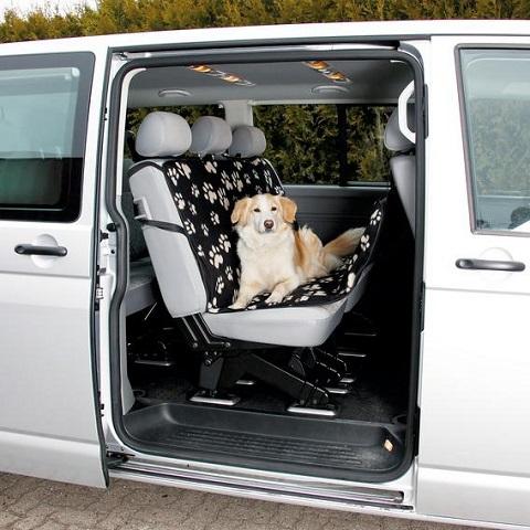 Trixie автомобильная подстилка на сиденье для собак, нейлон, серо-бежевая, 140 х 145 см (1 шт)