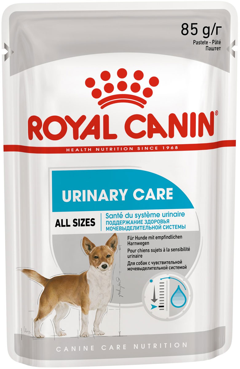 Royal Canin Urinary Care для взрослых собак всех пород при мочекаменной болезни паштет 85 гр (10 + 2 шт)