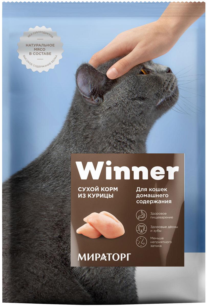 Winner для взрослых кошек живущих дома с курицей (10 кг) фото