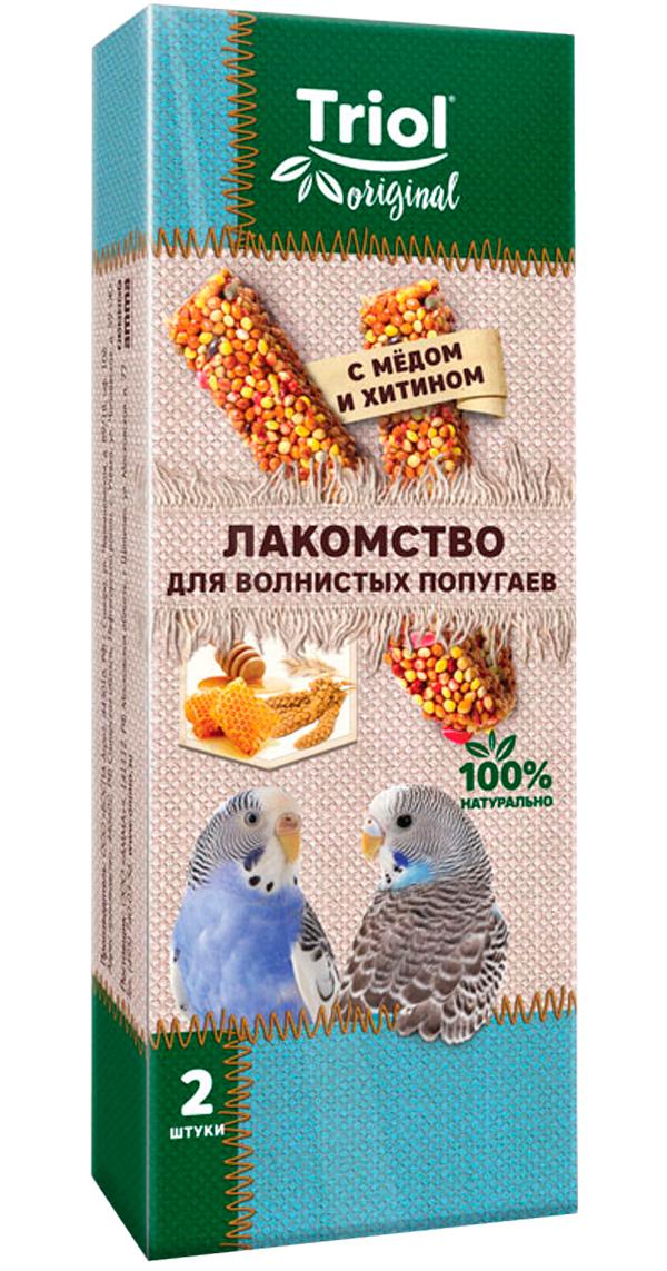 Triol Original лакомство для волнистых попугаев с медом и хитином (2 шт)