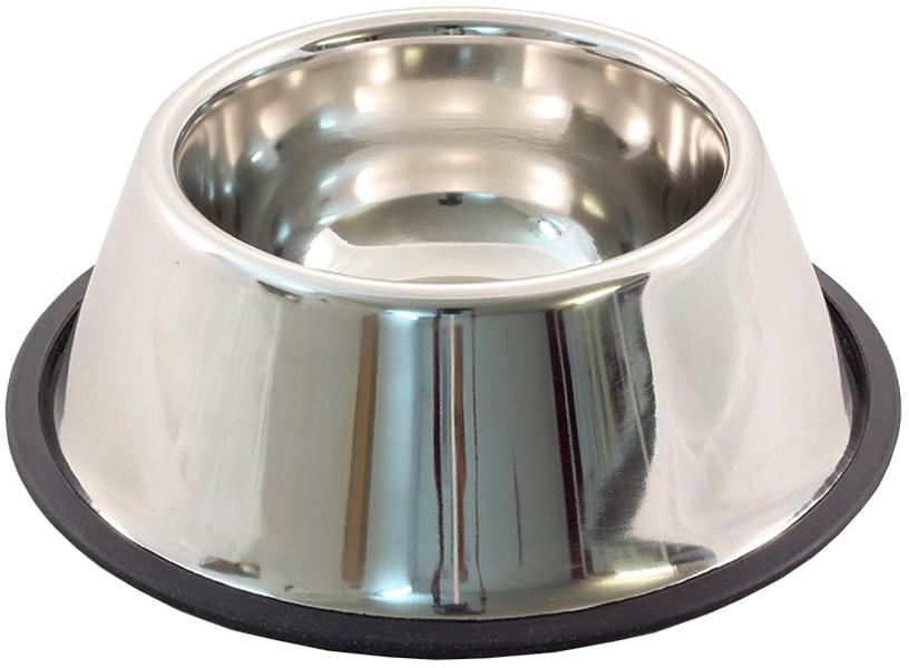 Triol миска металлическая на резинке для собак