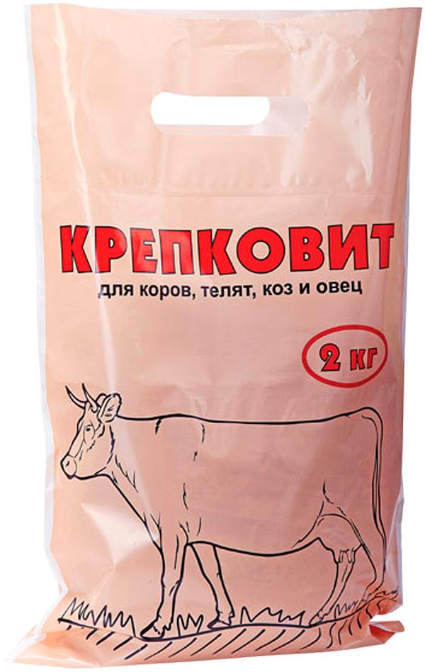 Добавка кормовая для коров, телят, коз и овец Ваше Хозяйство Крепковит 2 кг (1 шт)