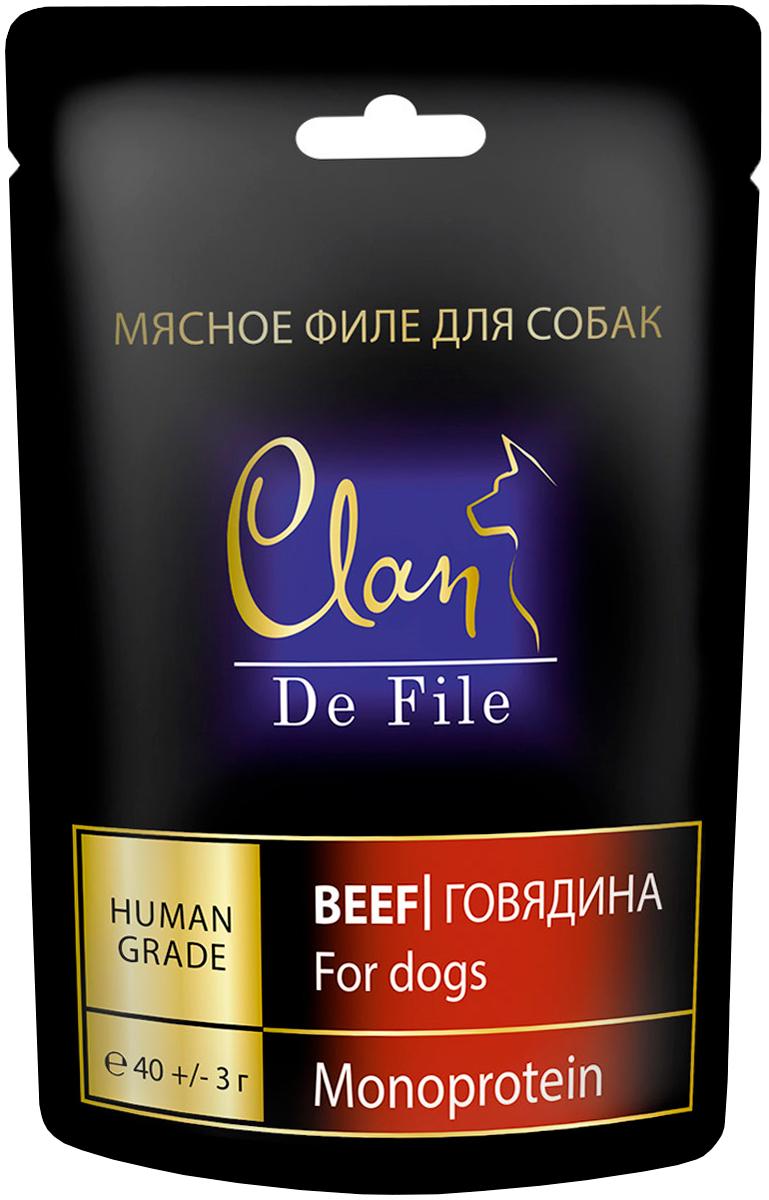 Лакомство Clan De File монобелковое для собак с говядиной (40 гр)