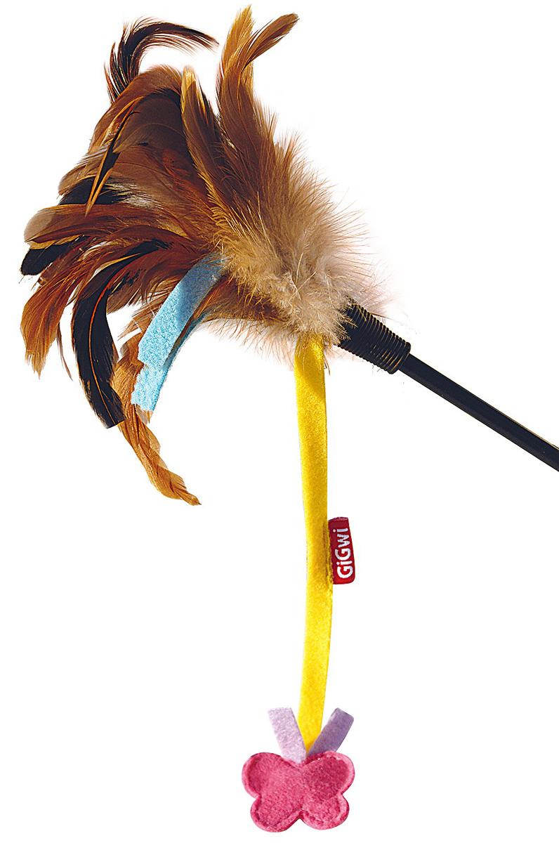 Игрушка для кошек GiGwi Дразнилка с бабочками 51 см  (1 шт)