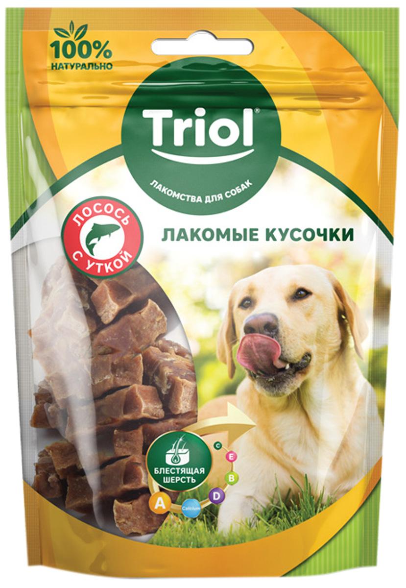 Лакомство Triol для собак лакомые кусочки с лососем и уткой 70 гр (1 шт)