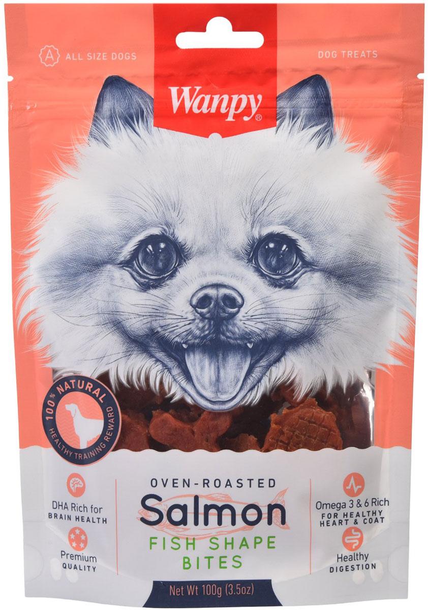 Лакомство Wanpy Dog для собак рыбки с лососем (100 гр)