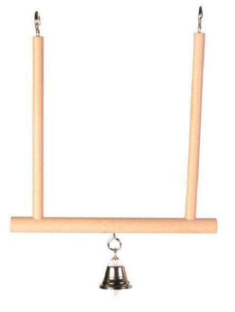 Фото - Качели для птиц Trixie с колокольчиком 12,5 х 13,5 см (1 шт) trixie кубик trixie для птиц с зеркалом и колокольчиком 8 см пластмассовый