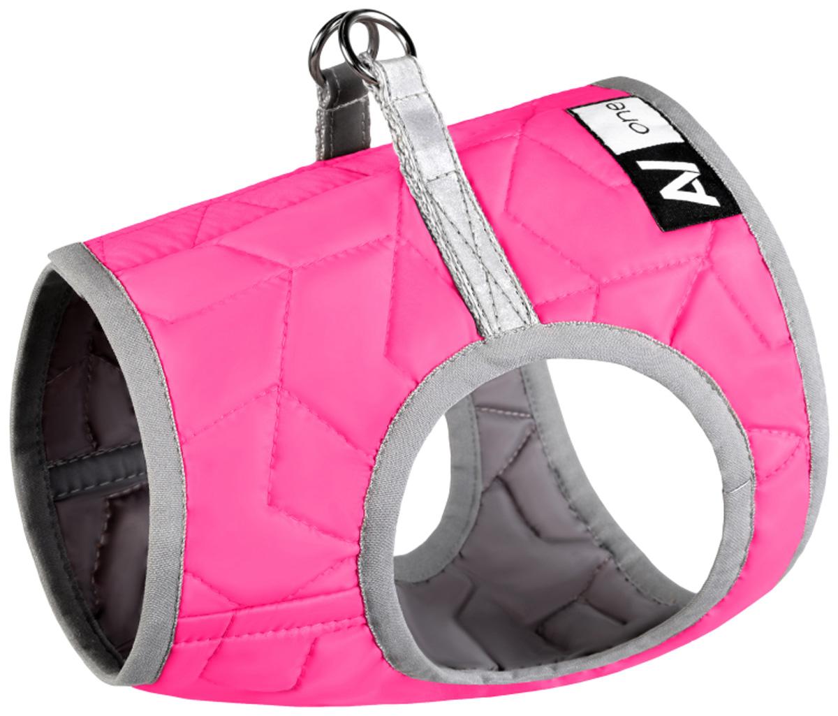 Шлея мягкая для собак Collar AiryVest One розовая (xs3) фото