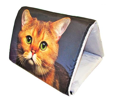 Дом для животных PerseiLine Дизайн Шалаш + лежак 2 в 1 Рыжий кот 46 х 36 х 36 см (1 шт) дом для животных perseiline дизайн бамбук 33 х 33 х 40 см 1 шт
