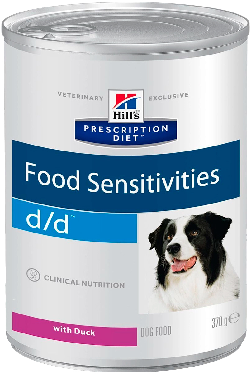 Hill's Prescription Diet D/d Duck для взрослых собак при пищевых аллергиях с уткой 370 гр (370 гр х 12 шт)