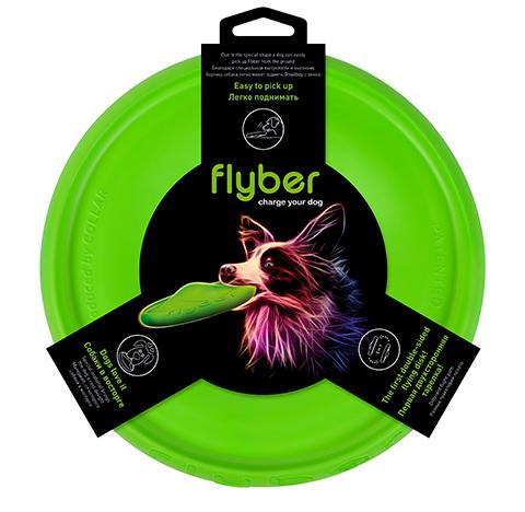 Летающая тарелка для собак Flyber зеленая (22 см)