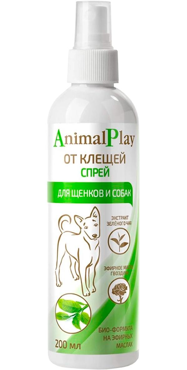 Animal Play спрей репеллентный для собак и щенков против против клещей, блох, вшей и власоедов 200 мл (1 шт) фронтлайн спрей для собак против клещей блох вшей и власоедов 250 мл