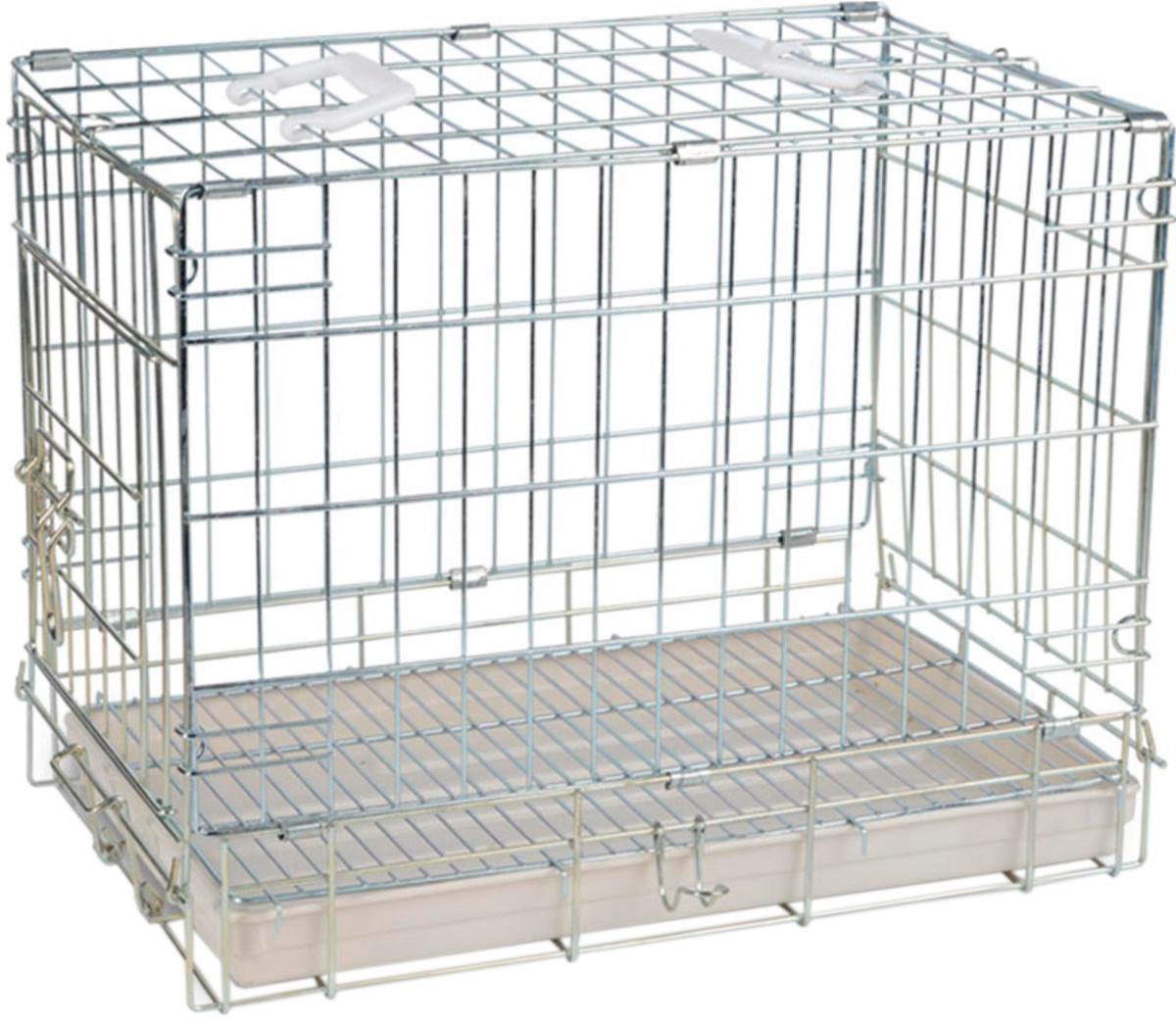 Клетка для животных Triol 001z цинк 51 х 33 х 40 см (1 шт) переноска для животных triol premium large 80 1 х 56 2 х 59 см 1 шт