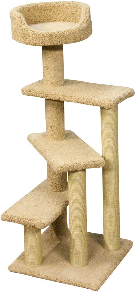 Когтеточка Винтовая лестница Пушок ковролин бежевая (1 шт)