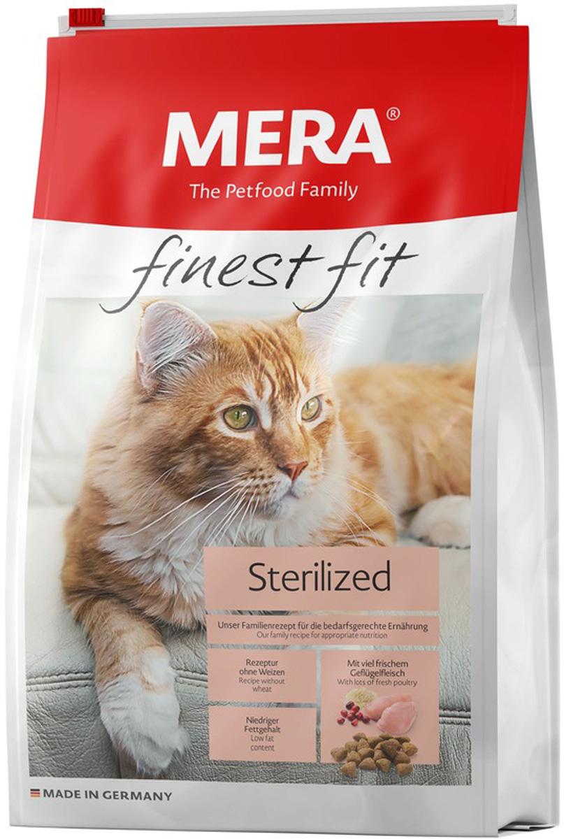 Mera Finest Fit Cat Sterilized для взрослых кастрированных котов и стерилизованных кошек с птицей (1,5 кг)