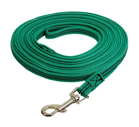 Поводок для собак 20 мм капроновый с латексной нитью зеленый 3 м Зооник (1 шт)
