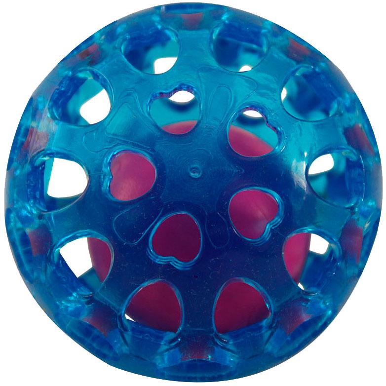 Triol игрушка для собак «Сфера с шариком» из термопластичной резины, 6,5 см (1 шт)