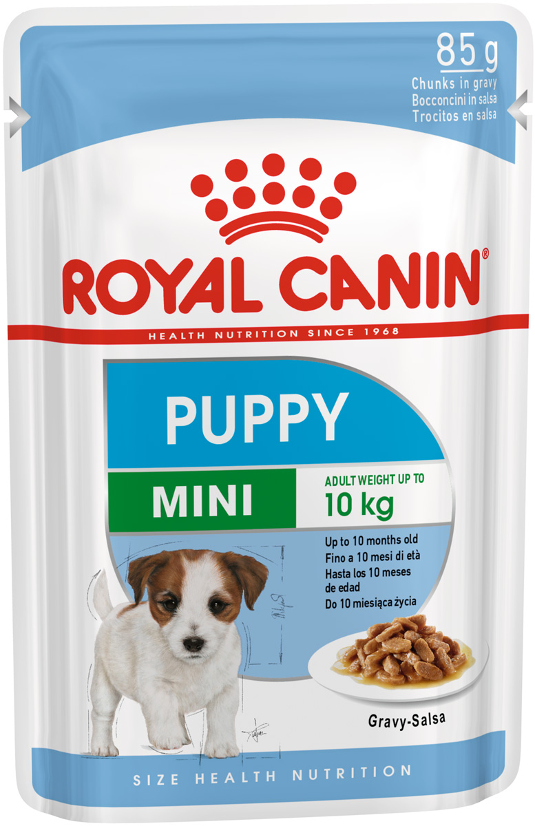 Royal Canin Mini Puppy для щенков маленьких пород в соусе  (10 + 2 шт)