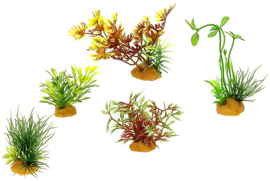Набор пластиковых растений для аквариума Prime Pr-70610 уп. 5 шт (1 уп) 0 pr на 100