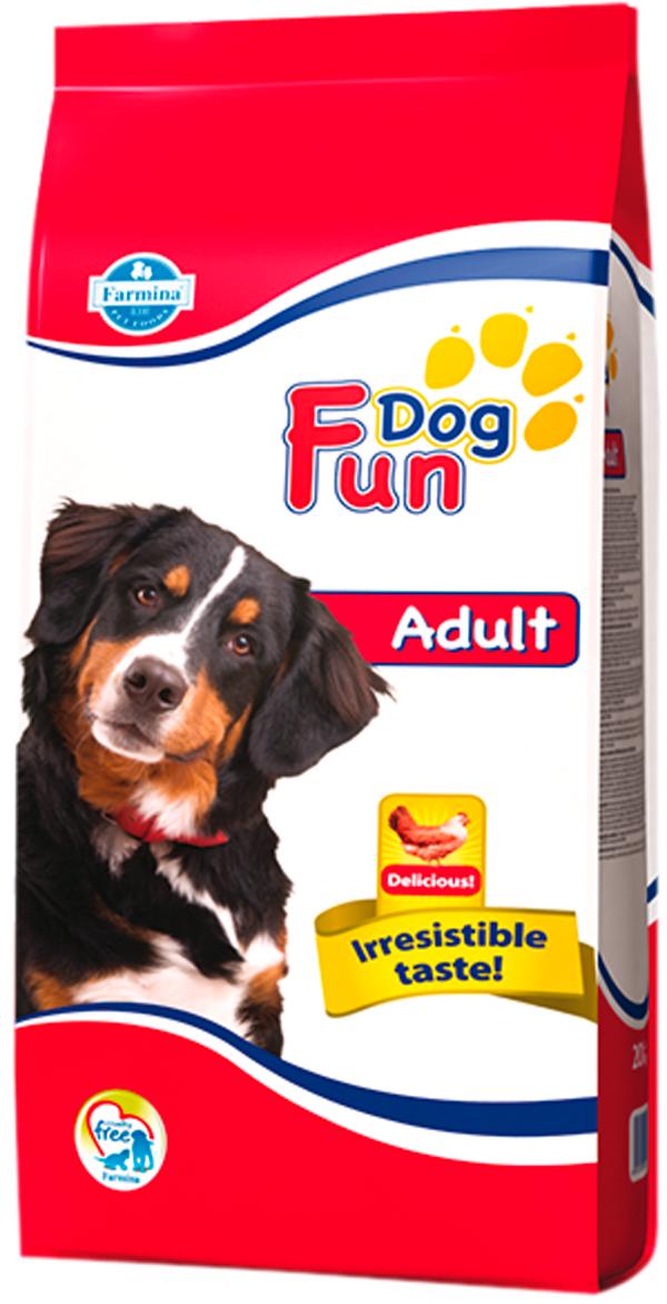 Fun Dog Adult для взрослых собак всех пород с курицей (10 + 10 кг)