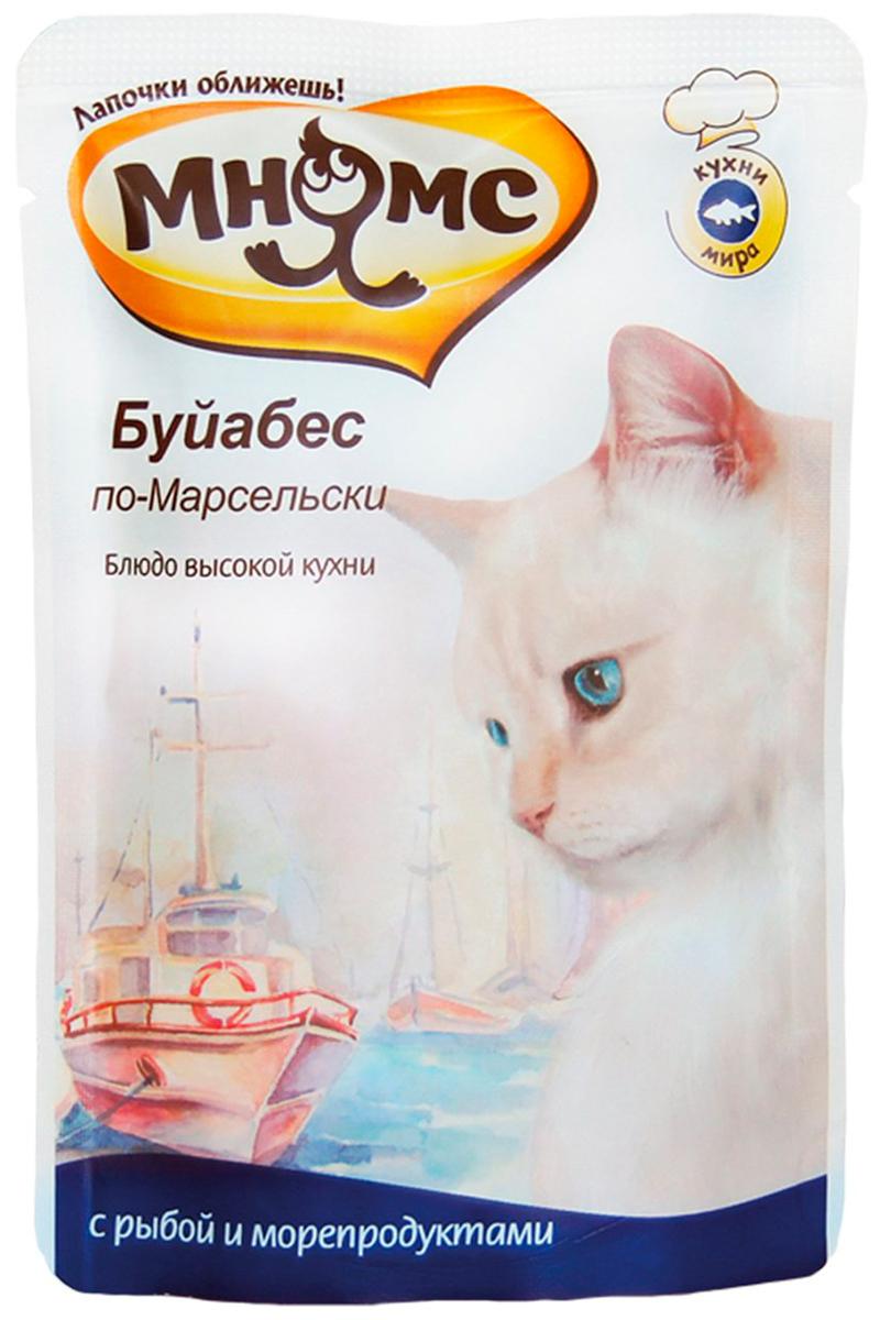 мнямс буйабес по-марсельски для взрослых кошек с рыбой и морепродуктами (85 гр) мнямс оссобуко по милански для взрослых кошек с ягненком и рисом 85 гр