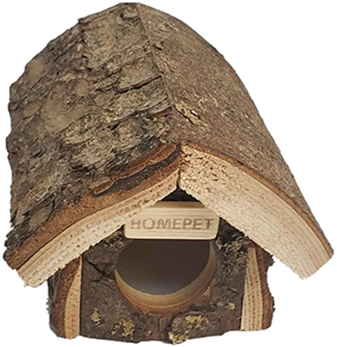 Домик избушка для мелких грызунов деревянный Homepet 16 х 12 х 105 см (1 шт).