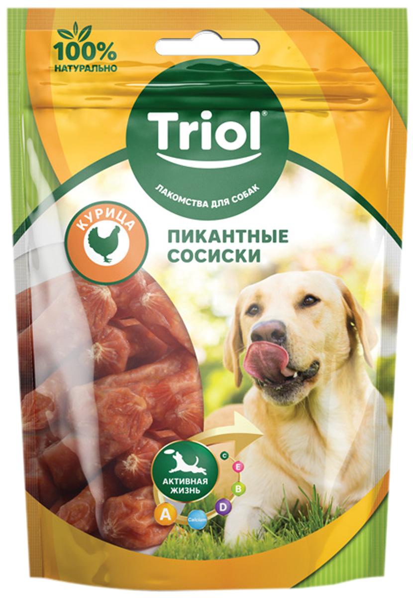 Лакомство Triol для собак сосиски пикантные с курицей 70 гр (1 шт)